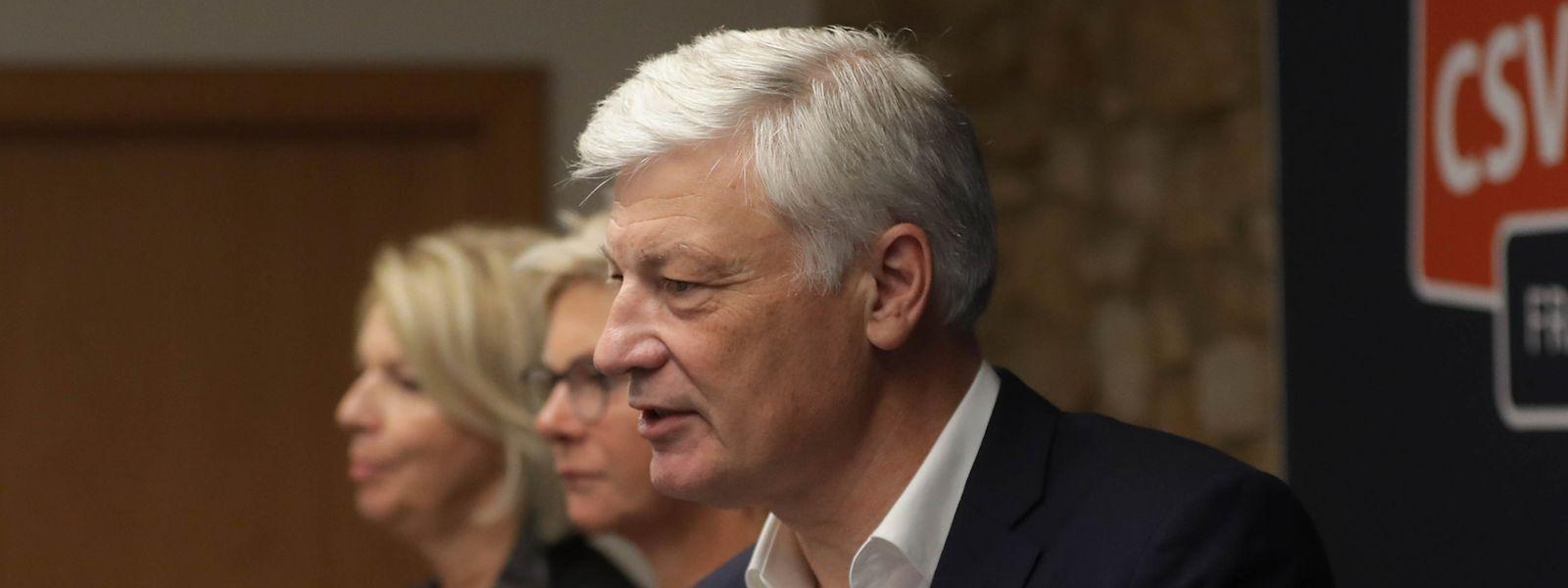 Claude Wiseler, tête de liste du CSV: «Le soir même des élections, nous avons proposé à Xavier Bettel de discuter avec le DP».