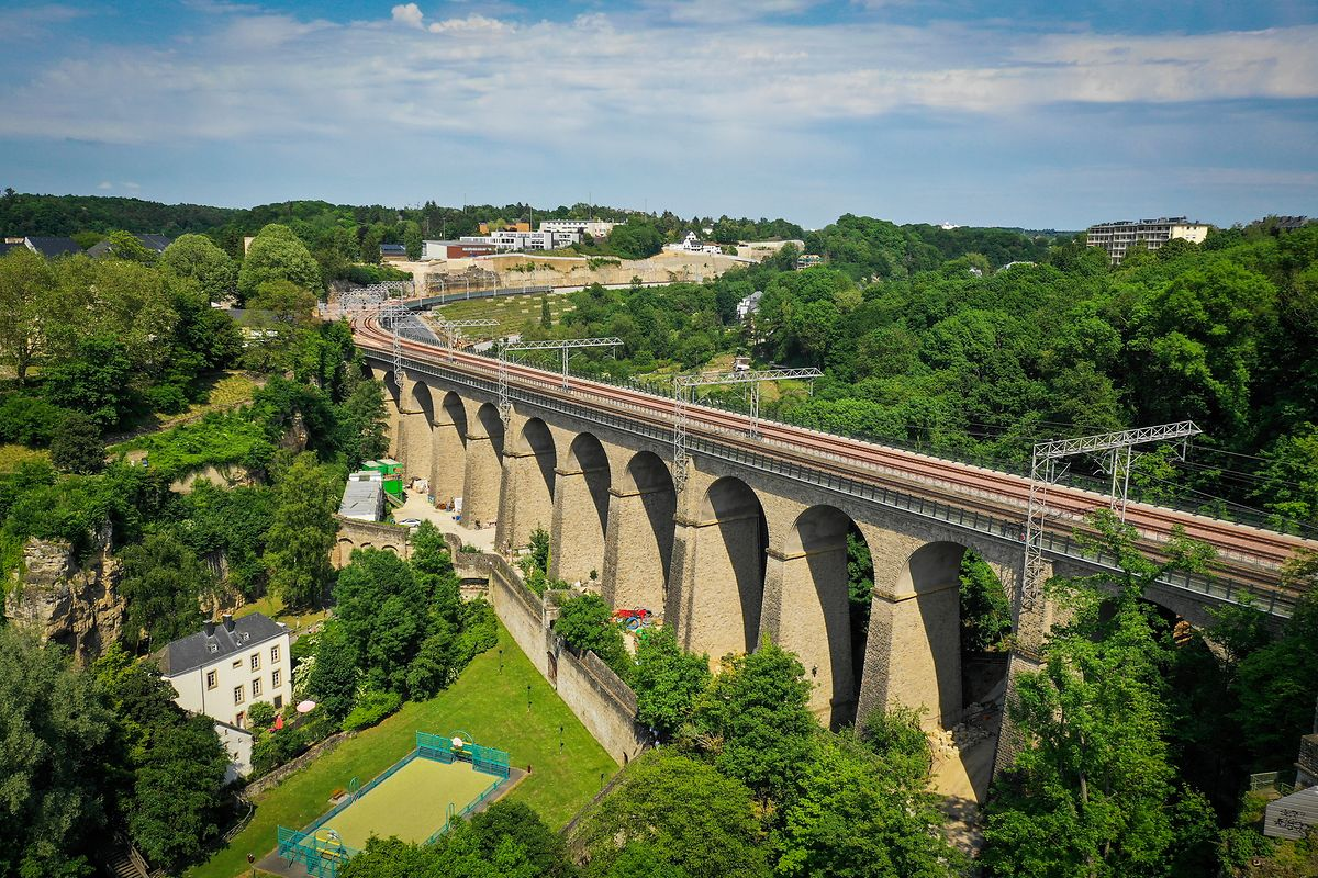 The Pulvermühle viaduct near the Luxembourg Gare area Photo: Pierre Matgé