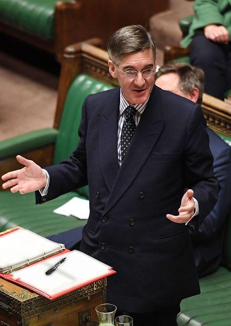 Jacob Rees-Mogg unterstützt den Deal von Boris Johnson.