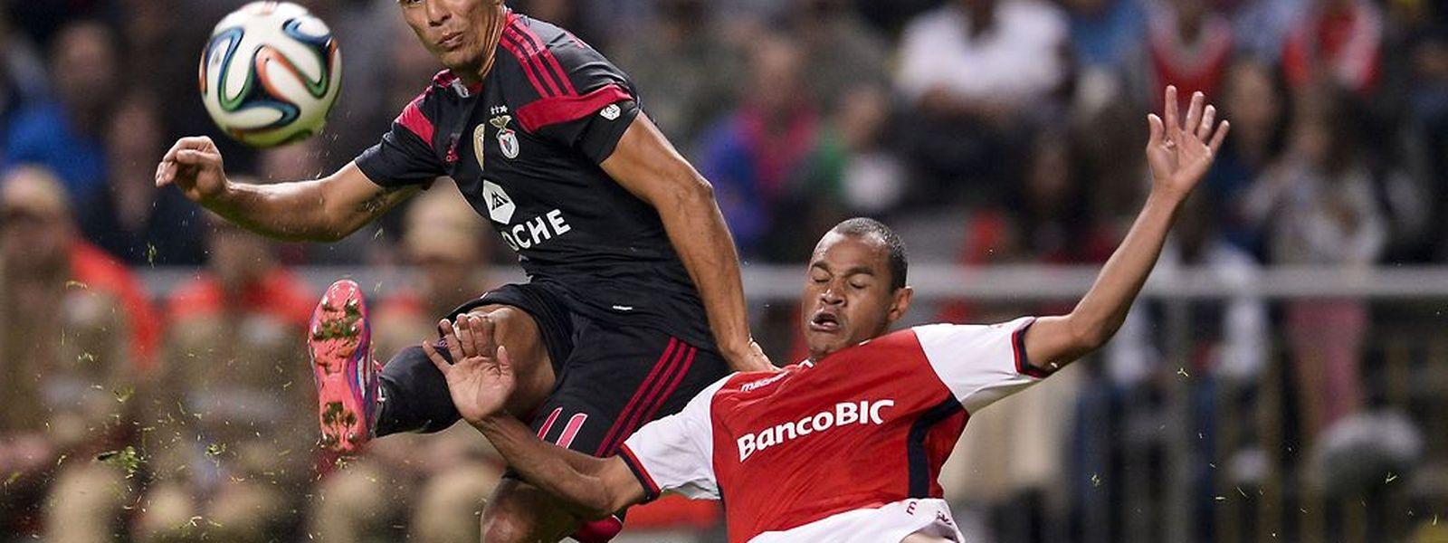A primeira derrota dos encarnados no campeonato aconteceu em Braga