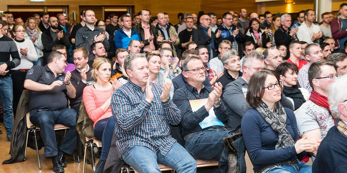 Der Andrang in Hesperingen spiegelte die Unzufriedenheit der SNPGL-Mitglieder wider. Der Gewerkschaft gehören übrigens insgesamt 2138 Polizisten an.