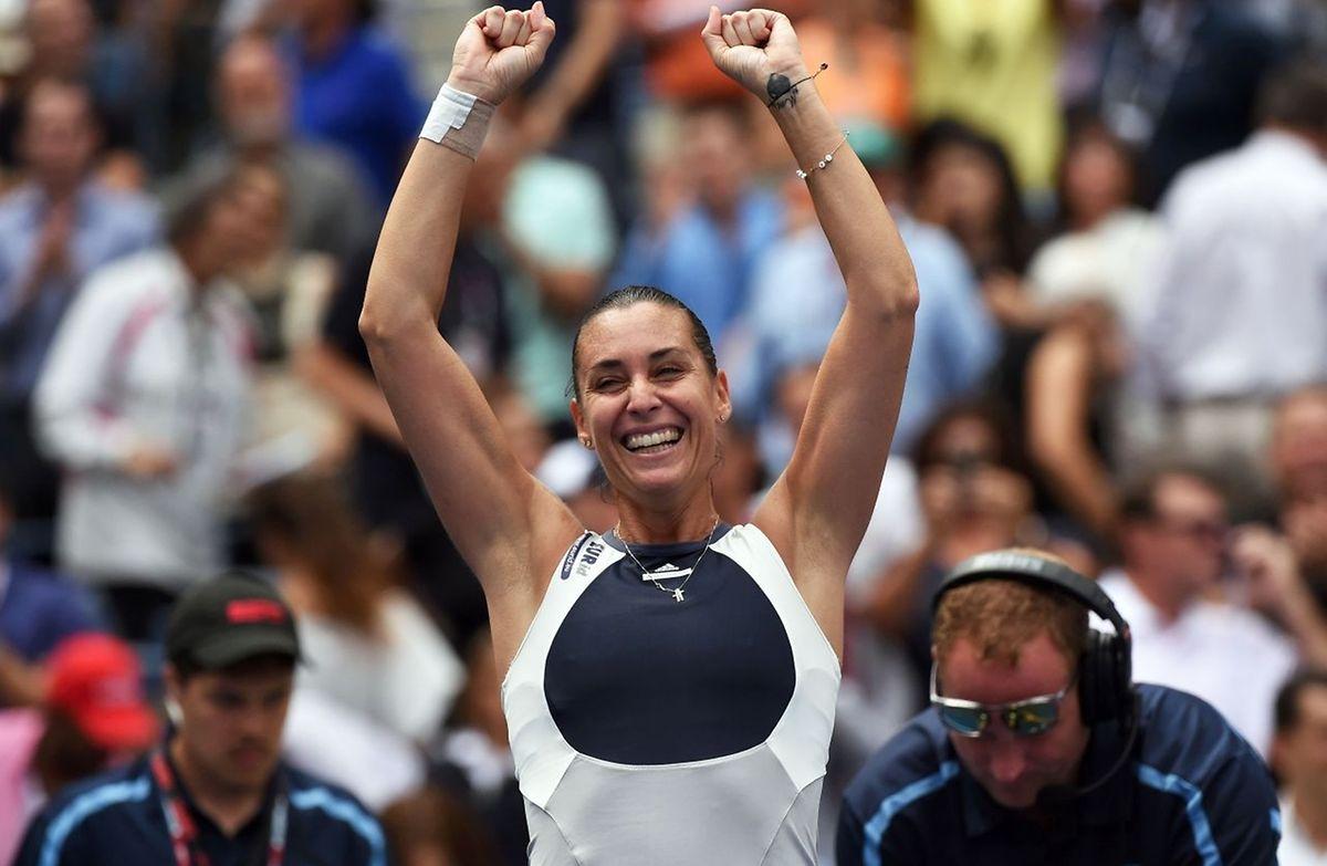 Flavia Pennetta s'apprête à disputer sa première finale dans un tournoi du Grand Chelem.