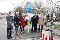 Lokales, Fahrradstrasse, rue cyclable VdL, rue de Bragance/rue Pierre Dupong Foto: Luxemburger Wort/Anouk Antony
