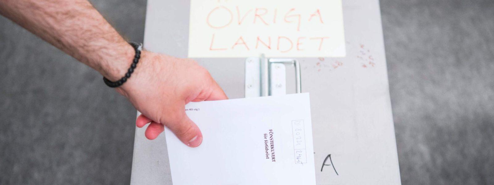 In Schweden konnten Wähler bereits Anfang Mai ihre Stimmen in die Urnen werfen. Die eigentliche EU-Wahl findet aber erst am Sonntag statt.