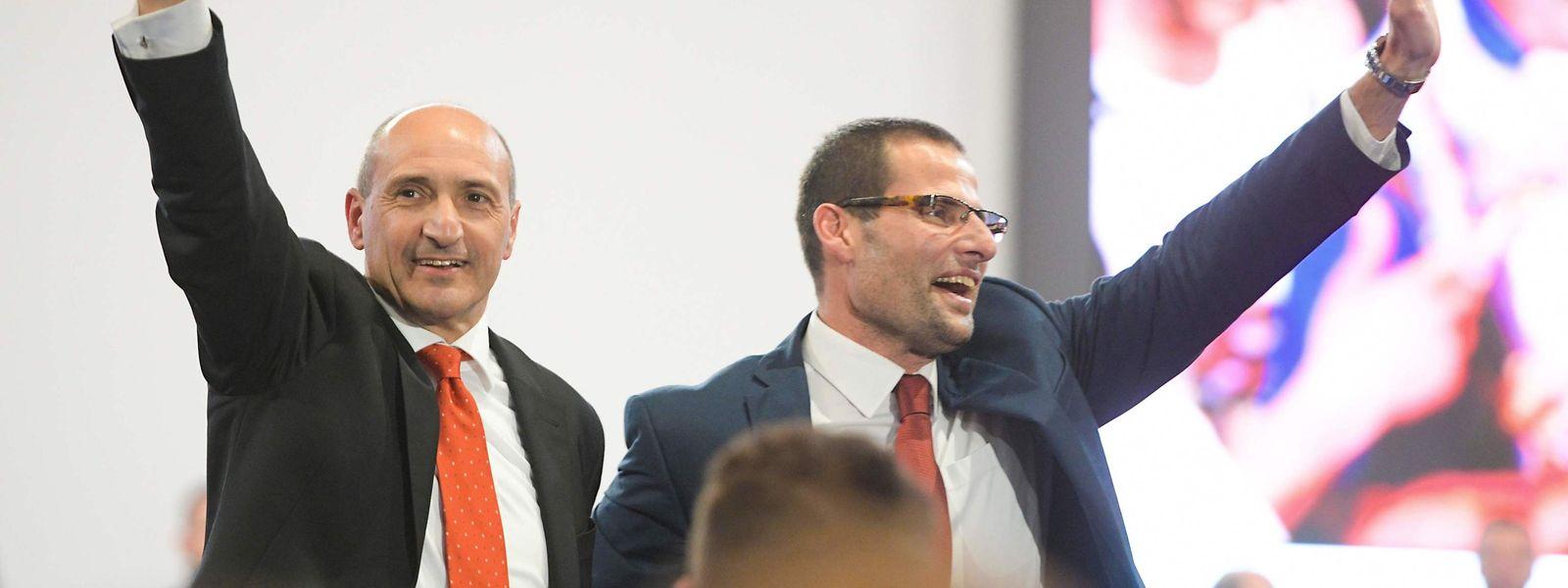 Die beiden Kandidaten Chris Fearne (l.) und Robert Abela (r.) zeigten sich vor der Wahl zuversichtlich. Am Ende geht Abela als Gewinner hervor.