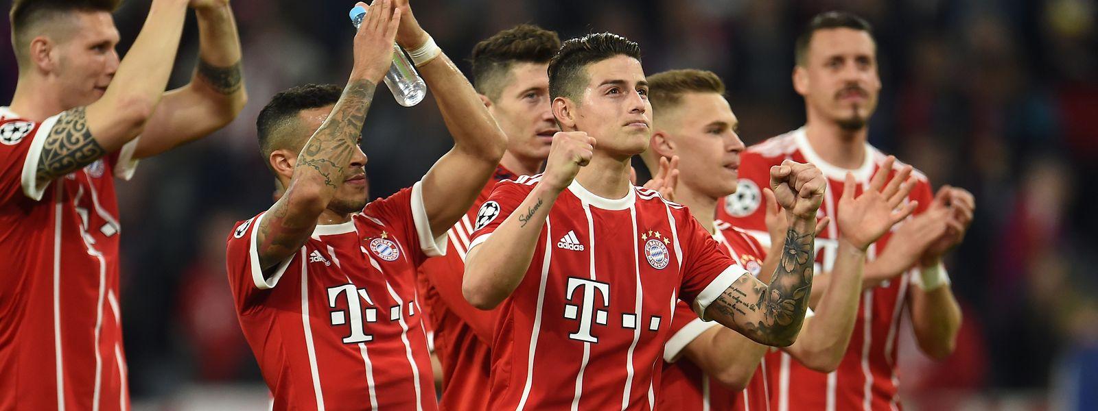 James Rodriguez und die Bayern bekommen es im Halbfinale mit dem Titelverteidiger zu tun.