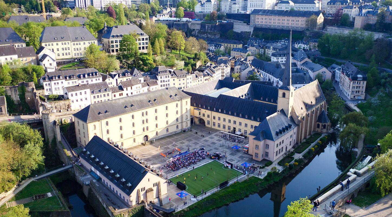 Im Innenhof der Abtei Neumünster wurde am Samstag gespielt.
