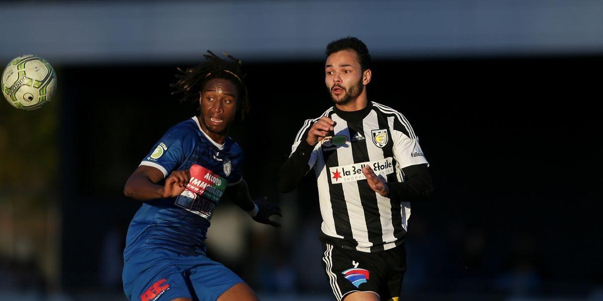 Toni Luisi, ici face au Pétangeois Joël Da Mata, va retrouver le F91 avec beaucoup d'ambitions.