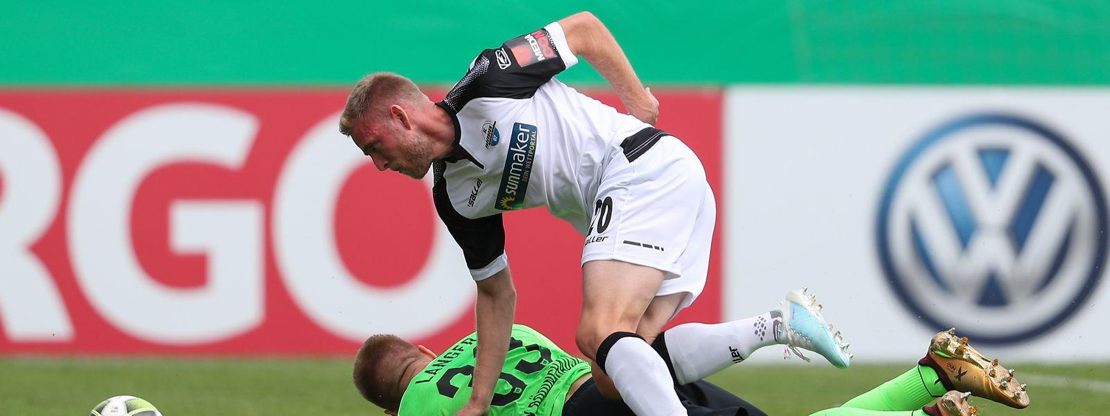 Im DFB-Pokal kam Laurent Jans in Rödinghausen zum Einsatz, jetzt will der Luxemburger auch in der Bundesliga spielen.