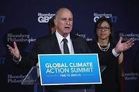 Auch in Klimafragen nicht ganz auf Linie mit der Trump-Regierung: Kaliforniens Gouverneur Jerry Brown.