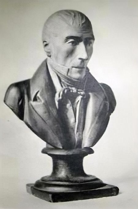 Eine Büste von Pierre David.