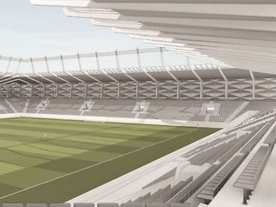 "The new stadium's cost increases are mainly due to the monitoring system and the use of ""hybrid turf""."