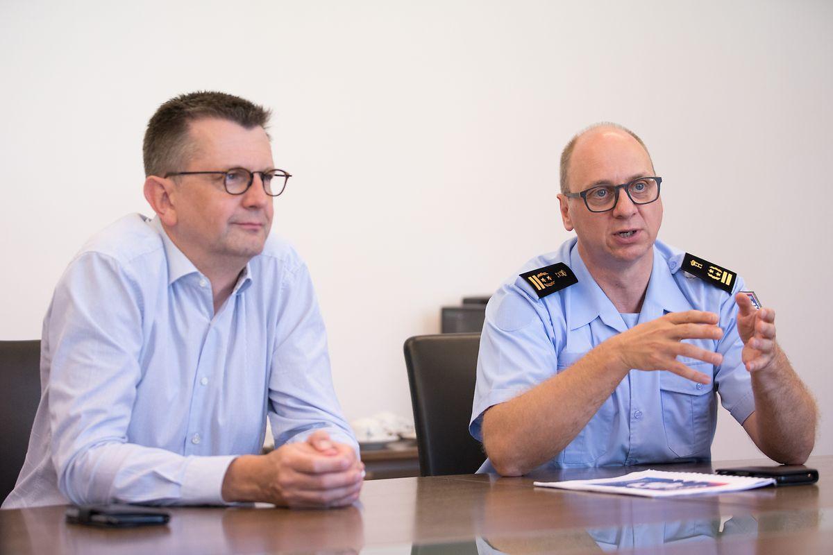 Alain Becker, Präsident des Verwaltungsrates, und CGDIS-Generaldirektor Paul Schroeder: Personalmanagement als wesentliche Herausforderung.