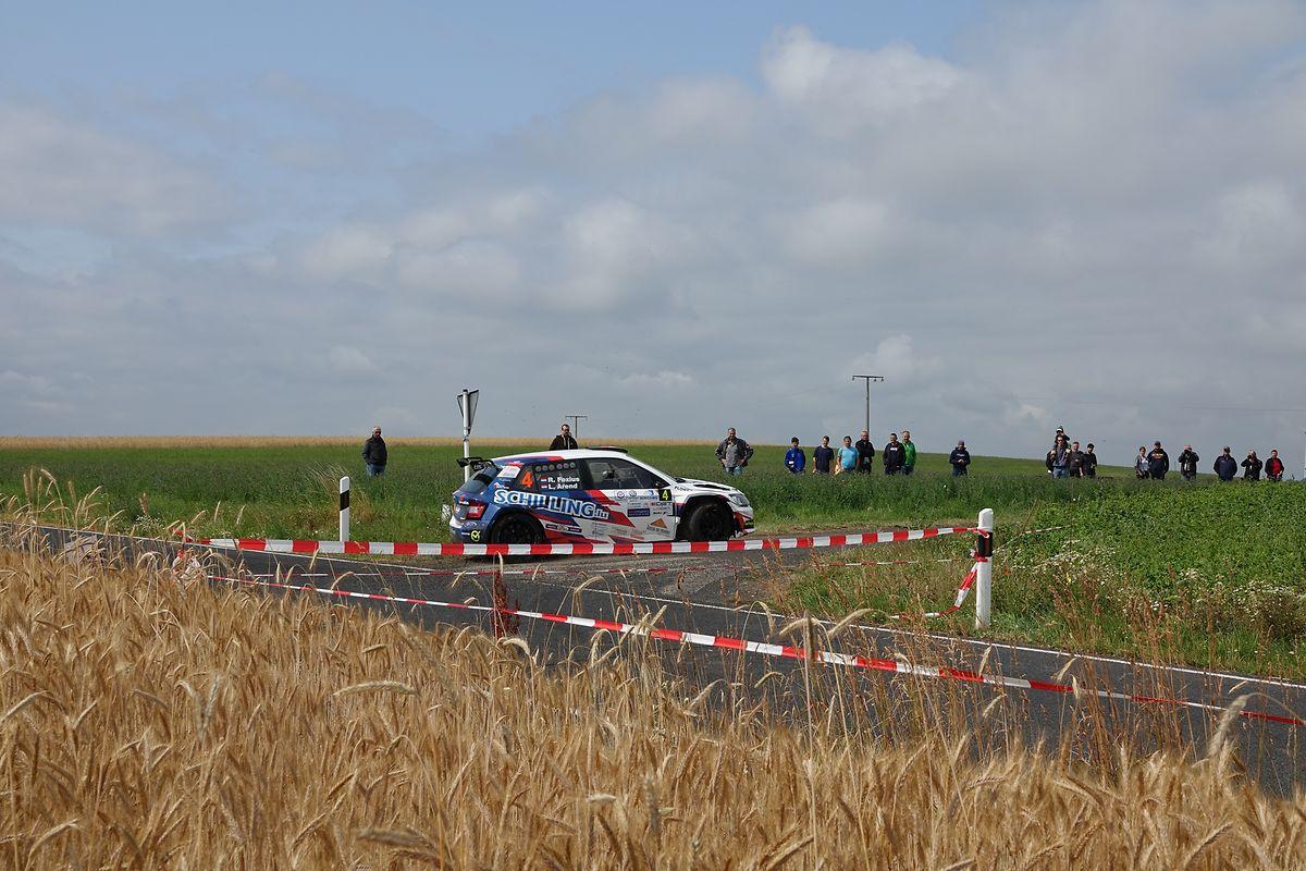 La Skoda Fabia R5 de Ronny Foxius et Luc Arend en action