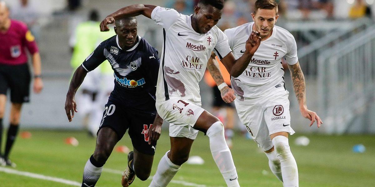 Opa N'Guette et les Messins n'ont jamais donné l'impression de pouvoir terrasser Bordeaux.