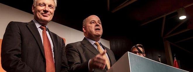 """Laut Claude Wiseler (l.) und Marc Spautz wird das Jahr 2016 für die Regierung ein """"Jahr ohne Entschuldigungen""""."""