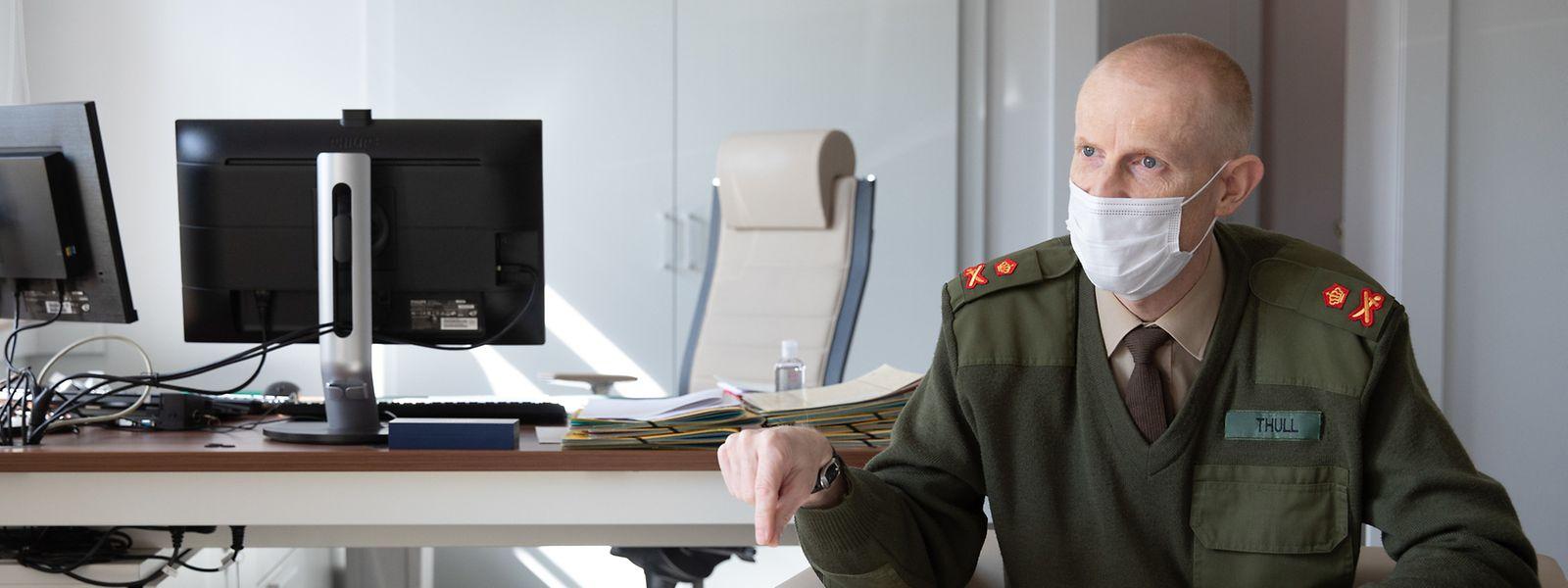 """""""La politique de cyberdéfense de l'armée luxembourgeoise n'a pas vocation à lancer des hostilités électroniques"""", précise le chef d'état-major, Steve Thull."""