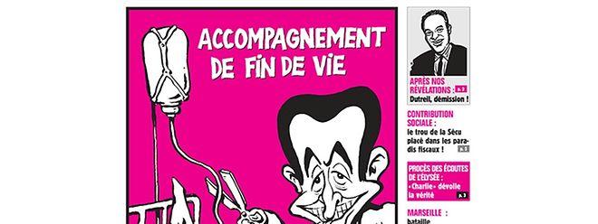 Die neueste Ausgabe von Charlie Hebdo.