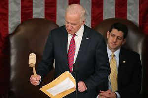 Der noch amtierende Vizepräsident Joseph Biden leitete die SItzung.