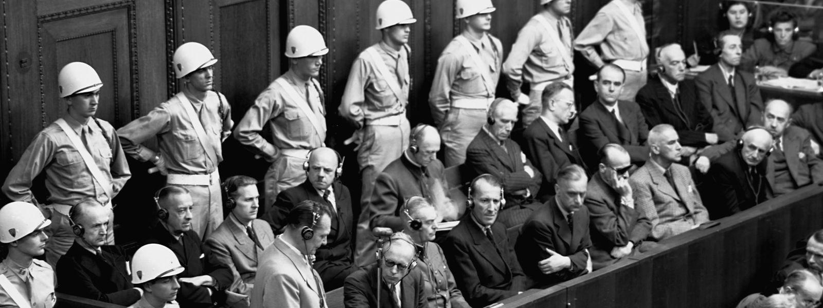 Nazi-Bonzen auf der Anklagebank: Am 20. November 1945 begann der Prozess gegen die Hautkriegsverbrecher.