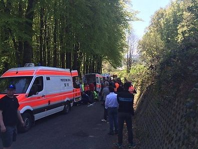 Serious accident causes third stage of the Flèche du Sud  to be cancelled
