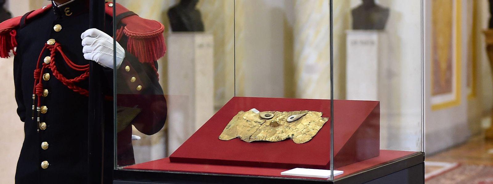 Die Sicán-Maske wurde 1997 in Bayern entdeckt und beschlagnahmt.