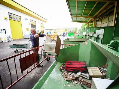 Das Recyclingcenter an der Route d'Arlon ist für Einwohner der Gemeinden Luxemburg und Strassen bestimmt.