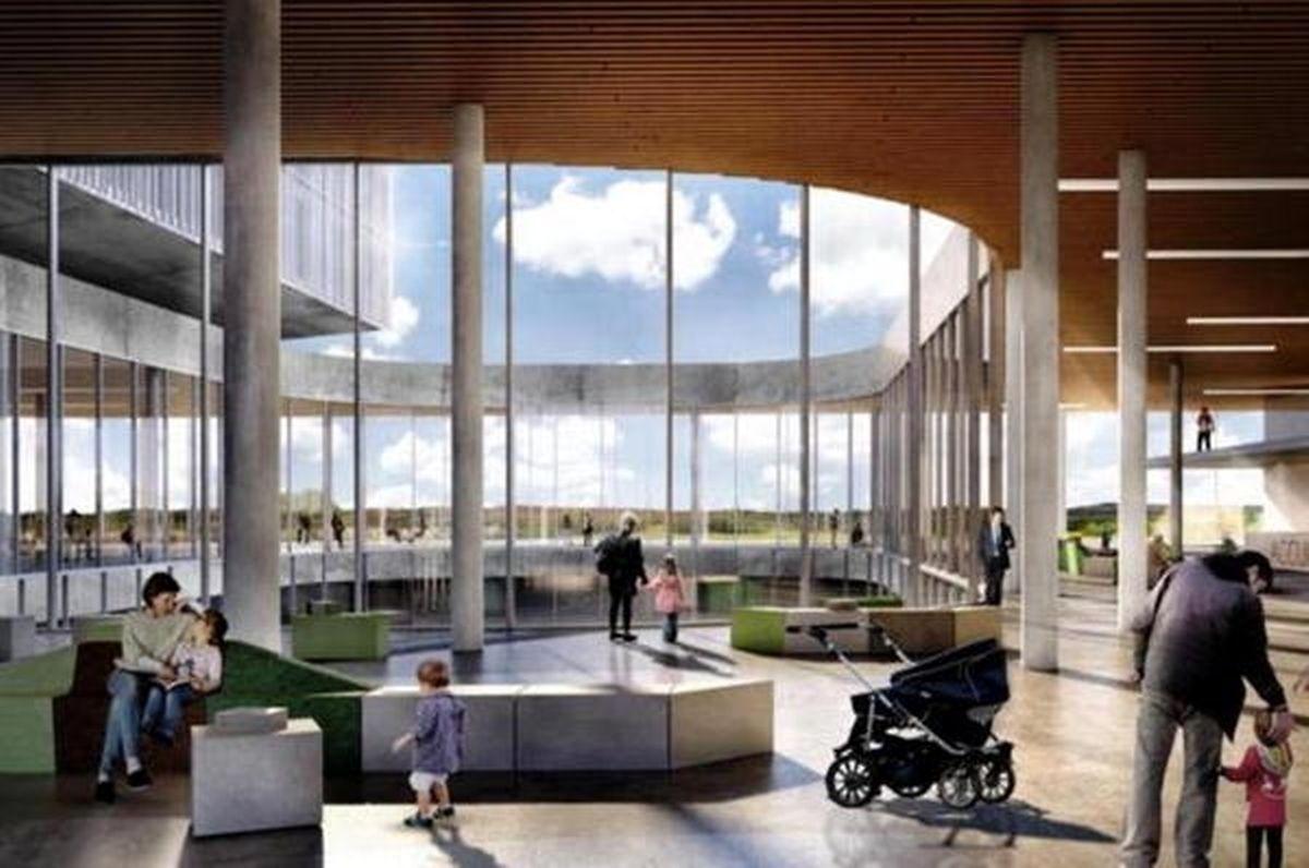 Une esquisse du futur hôpital à construire à Houdemont dans la commune d'Habay.