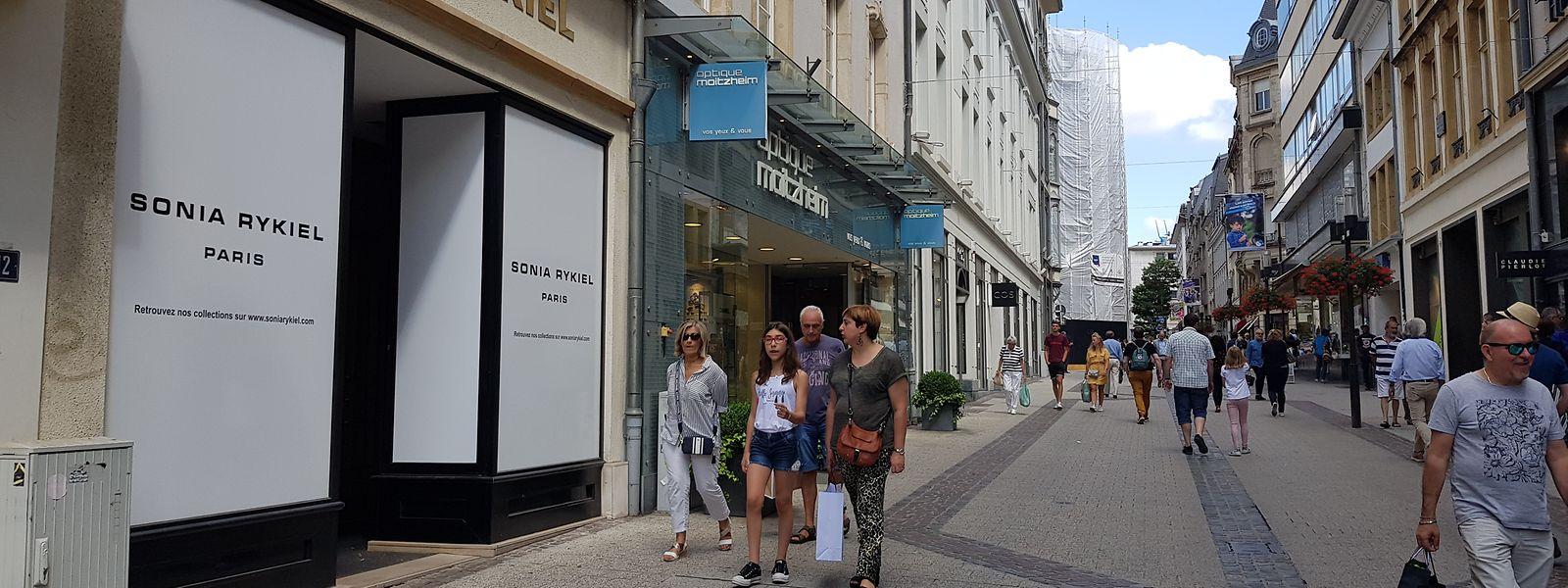 De nombreux magasins du centre-ville ont, ou vont, fermer leurs portes à Luxembourg.