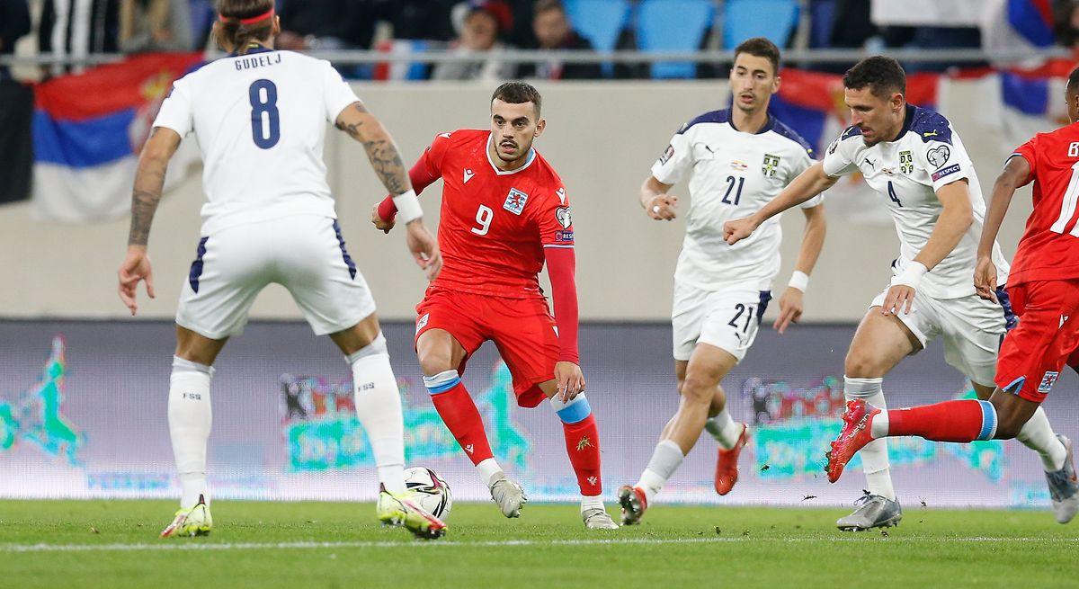 Danel Sinani ist gegen Serbien einer der besten Luxemburger.