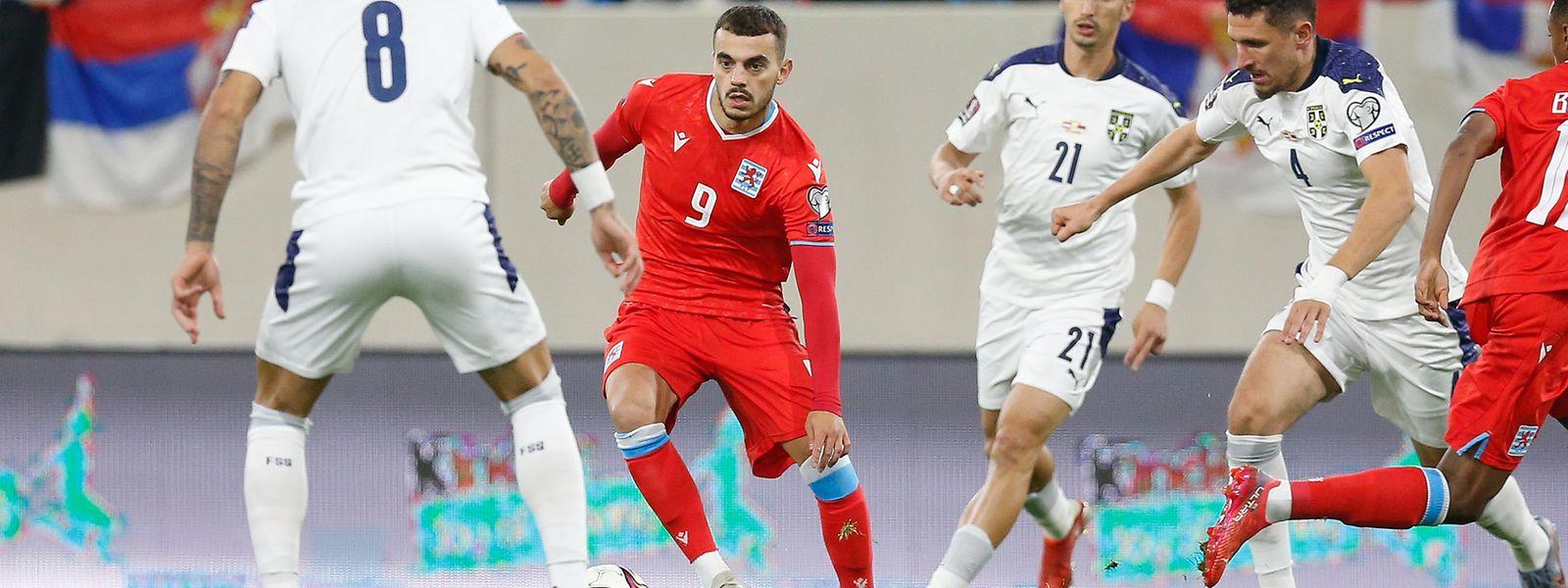 L'attaquant Danel Sinani n'a pas marqué, samedi, face à la Serbie. Fera-t-il trembler les cages de Rui Patricio ou Anthony Lopes ce soir?