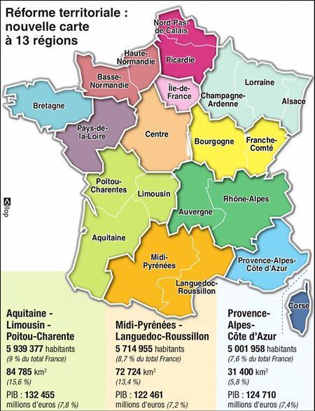 Voici la nouvelle carte de France