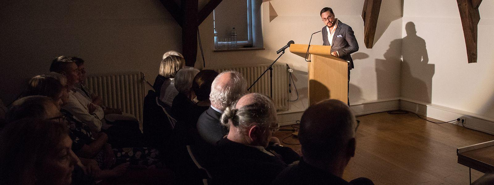 CNL-Direktor Claude D. Conter hob die Vielschichtigkeit von Hausemers Schriftstellertätigkeit hervor.