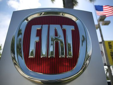 MIAMI, FL - MAY 23: A Fiat sign is seen at a dealership on May 23, 2017 in Miami, Florida. The U.S. government is suing Fiat Chrysler for possibly cheating on emmision controls in the diesel engines for nearly 104,000 Ram pickups and Jeep Grand Cherokees from the 2014 to 2016 model years.   Joe Raedle/Getty Images/AFP