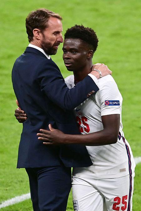 Le coach anglais Gareth Southgate pourrait encore s'appuyer sur la fougue de son milieu de terrain, Bukayo Saka.