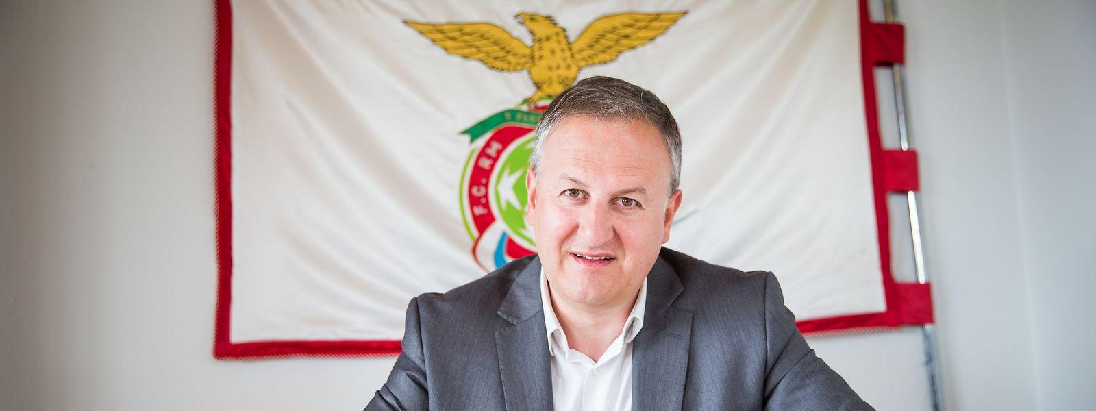 Paulo Lopes e o RM Hamm Benfica estão de regresso à elite do futebol luxemburguês.