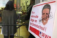 Politik-SEW Manifestation - Fir e sënnvolle Stage foto: Chris Karaba/Luxemburger Wort