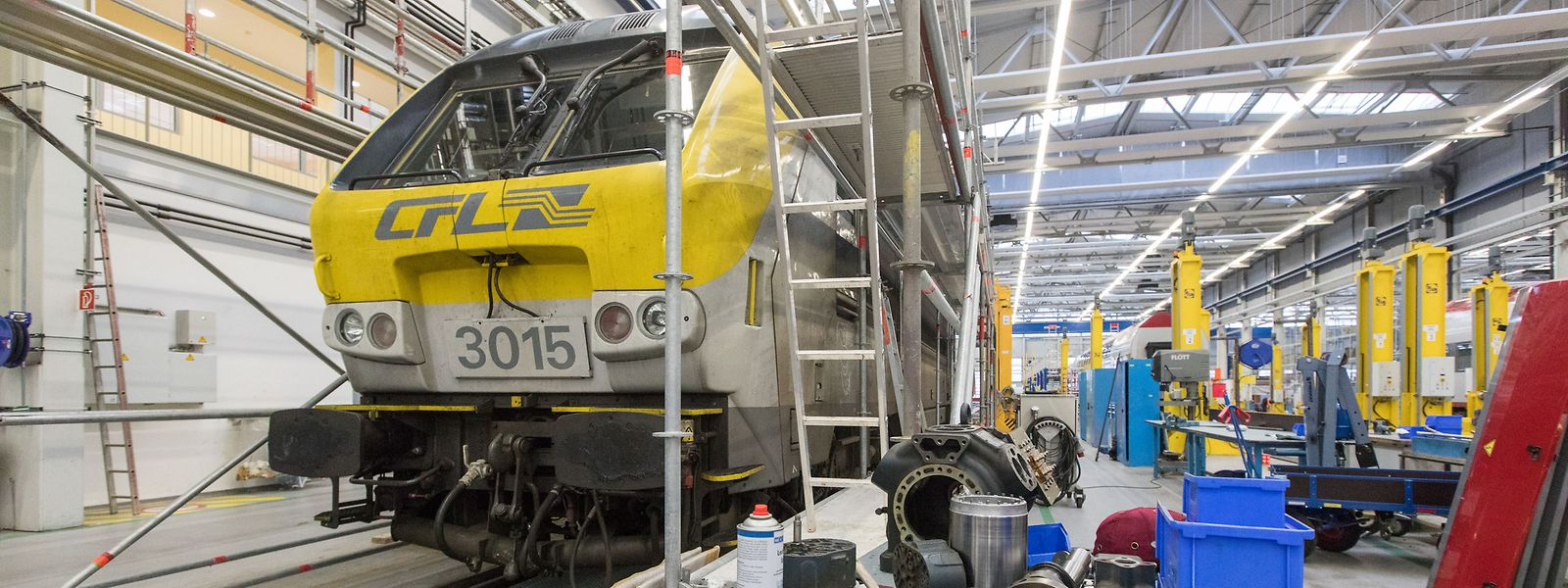 Cette année, les CFL disposeront d'un nouvel atelier de maintenance et réparation pour locomotives et wagons.