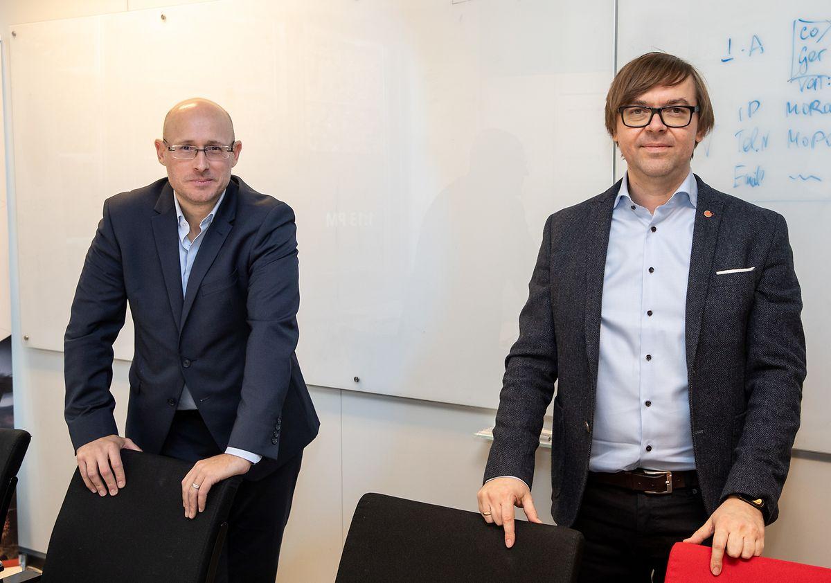 David Celis (CMD Solutions) et André Reitenbach (G-Core Labs) réfléchissent déjà à la prochaine évolution d'eConsult..
