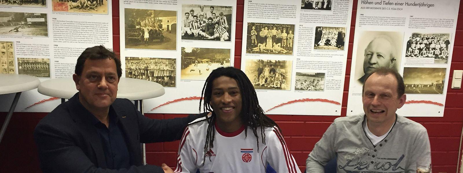 Gerson Rodrigues et les représentants du Fola avait signé un contrat de trois ans la semaine dernière.