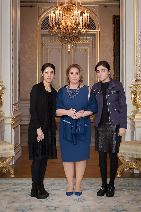 La Grande-Duchesse et les lauréates du prix Sakharov 2016