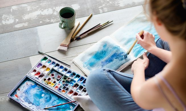 Painting is one form of art therapy