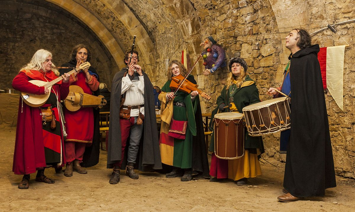 We don't get out much: Medieval band playing in a cave in Rodemack (Shutterstock)