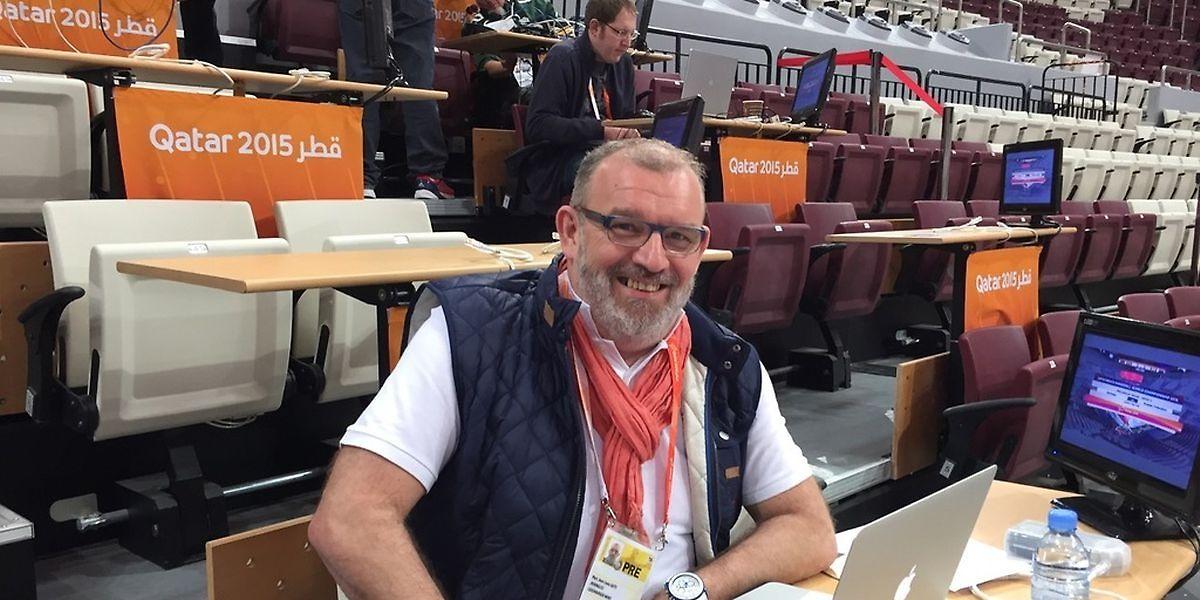 Für das Luxemburger Wort bei der Handball-WM in Katar 2015: Marc Gatti.