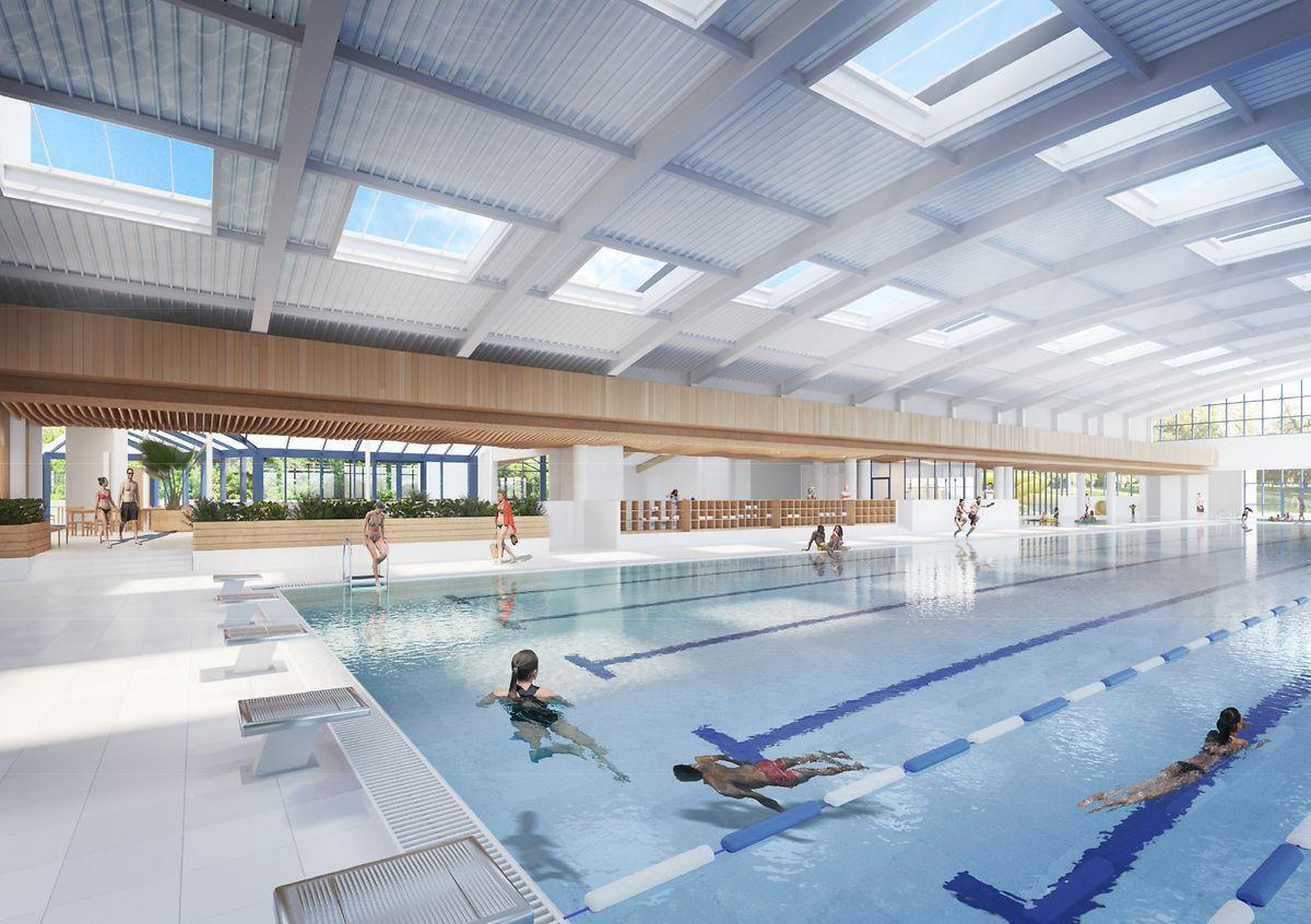Le changement le plus significatif affectera le bassin olympique. Il sera élargi d'une ligne d'eau supplémentaire, et les pataugeoires au pied du toboggan géant ne seront plus reliées à la piscine de 50 mètres.