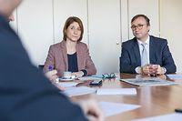 Politik, Doppelinterview André Bauler/Anouk Boever-Thill Dezentralisierung und Entwicklung der Regionen, Foto: Lex Kleren/Luxemburger Wort
