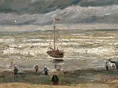 """""""Zeegezicht bij Scheveningen"""" (Meer bei Scheveningen 1882), von Vincent Van Gogh."""
