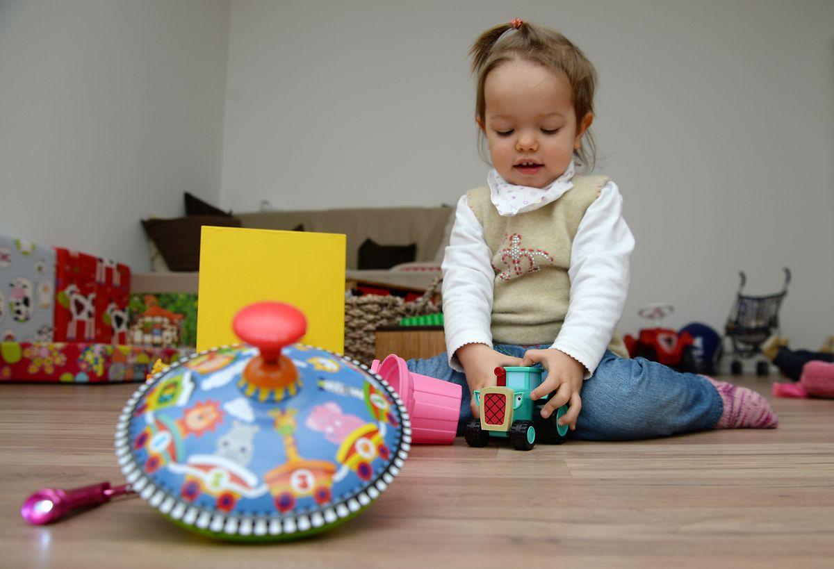 Kleinkinder brauchen die wenigsten Spielzeuge.