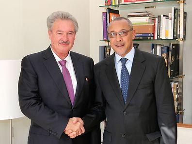 Jean Asselborn (l.) with Jorge Homero Tolentino Araújo