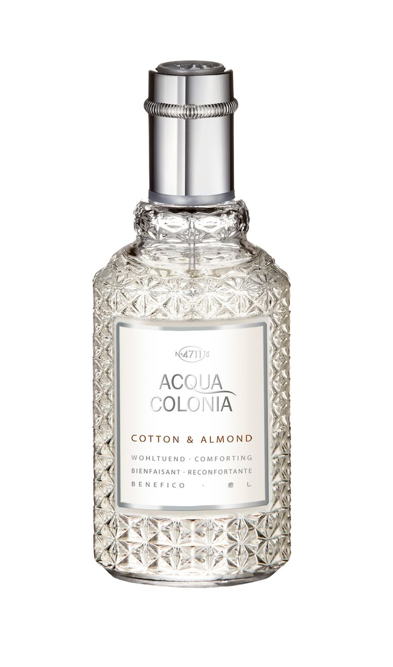 "Eau de Cologne ""Acqua Colonia Cotton & Almond"" von 4711, 50 ml um 20 Euro."